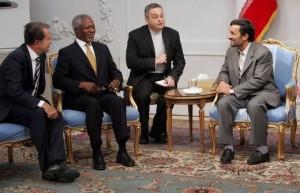 Former UN Secretary General Kofi Annan, and former Italian prime minister, Romano Prodi