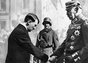 Hindenburg brought Hitler to power in January 1933