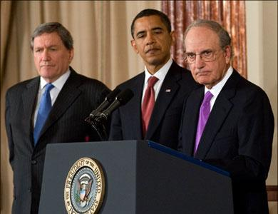 Richard Holbrooke, Barak Hussein Obama and George Mitchell
