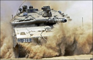 An Israeli tank