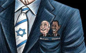 The Arab and Persian Media tries to tell us that the US Presidents are in the pockets of the Jews.