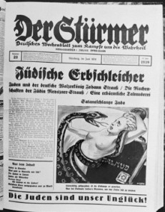 The Media in Nazi-Germany told us that the Jews were snakes, a treath to European women
