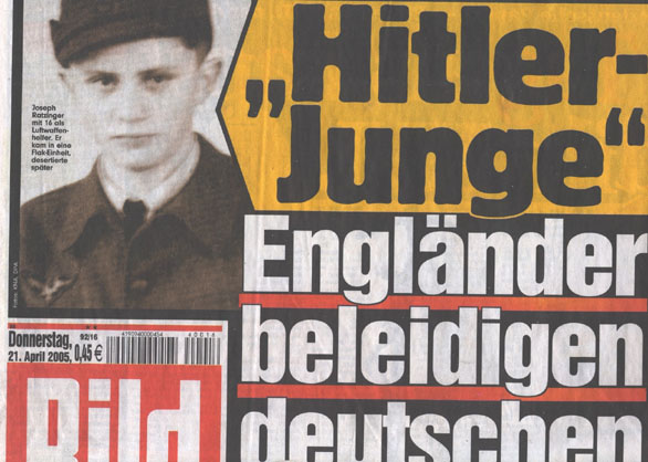 A German magazine published a photo of the present Pope as a Hitler Youth