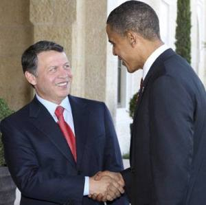 King Abdullah of Jordan have got Obama to support the «Saudi Peace» plan for the Middle East