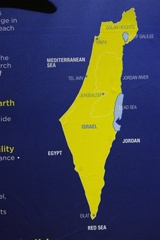 Tourist map of Israel banned on the London Subway