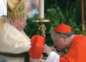 A cardinal and his pope
