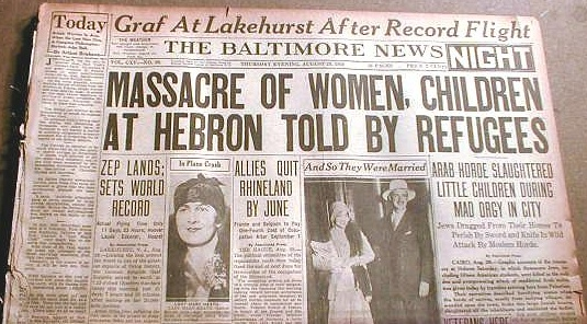 The massacre of Jews in Hebron in 1929. Just one of many