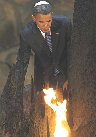 President Obama at the Holocaust Museum in Jerusalem