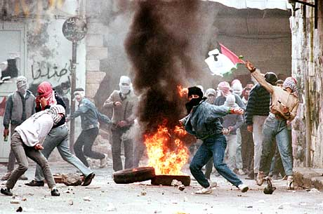 This picture is from the first Intifada in 1987