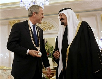 The US President who ruled during the fall of the Twin Towers, receives his award.