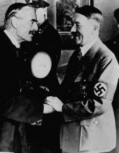 -Hitler is a man of peace, said the British Prime Minister Neville Chamberlain