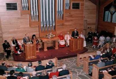 A Chapel known for nondenominality and interfaith gatherings