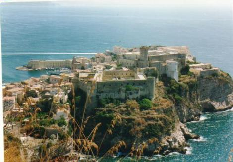 In 1848, the Pope of Rome was exiled to the Castle of Gaeta 120 kilometer south ot Rome.