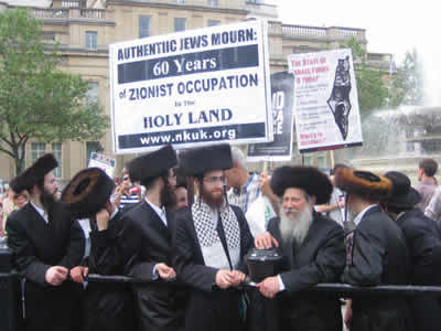 Ulta-Othodox Jews celebrating the Naquba. We know they do not want to live in Israel, but were do they want to go?