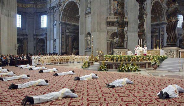 prostrate to pope