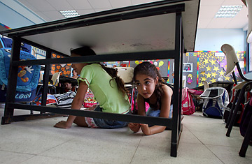 Not playing hide and seek, but preparing for the next Kassam rocket to strike Sderot.