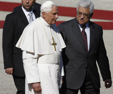Two men who will agree to believe that Jesus was a good man, teacher and prophet. The Pope and the PA President Abbas.