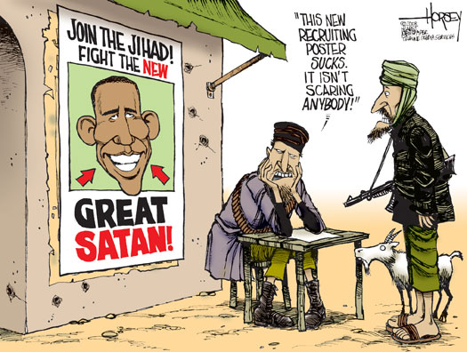 To attack Barack Hussein Obamas is not an easy sell in the Islamic World.