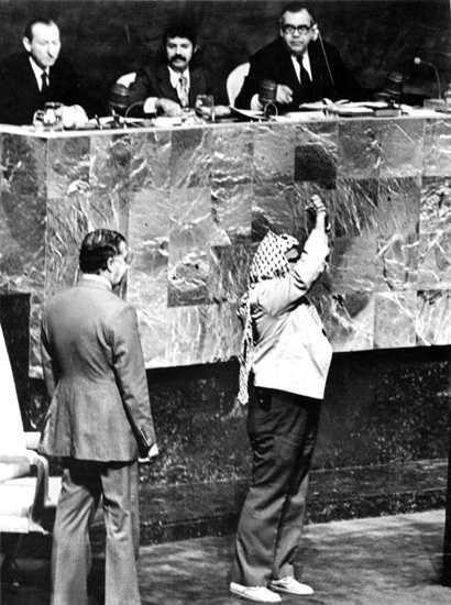 Arafat at UN (1974)