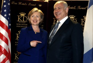 Hillary Clinton tries to put pressure on Benjamin Netanyahu. Hamas and Fatah is rejoicing.