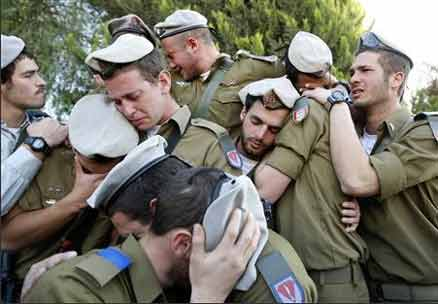 Did you know that IDF-soldiers can cry?  More than anyone, The Jewish people knows what it means to be under fire.