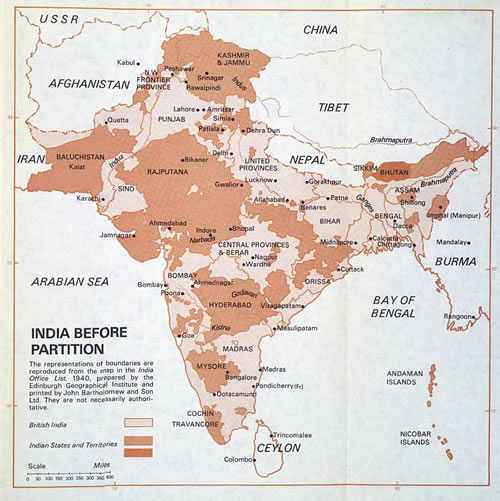 British India, just before the disaster two-state-solution plan was enforced from London.