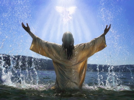 Jesus was a Jew, God the Son that came down from Heaven to save us. Only He can give us the Holy Ghost