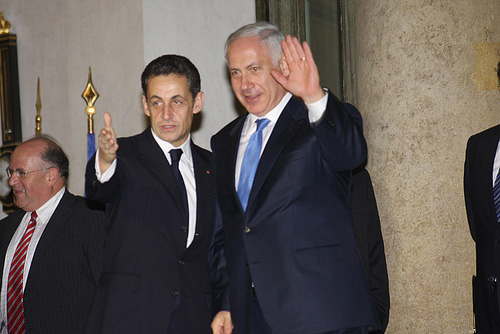 netanyahu and sarkozy
