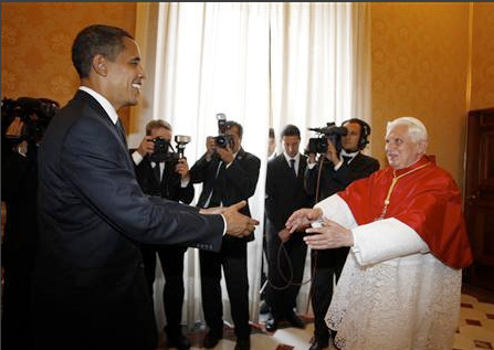 President Barack Hussein Obama on his visit to the Vatican