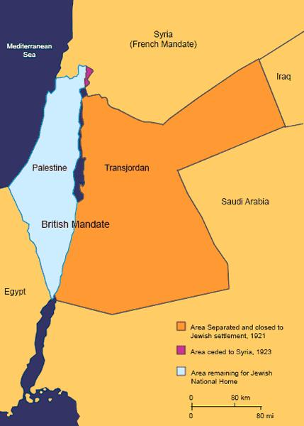 The map of British occupied Palestine, and a just and fair plan to divide the land beween Palestinian Jews and Palestinian Arabs.