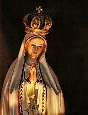 A Roman Catholic image of the Jewish mother of Jesus