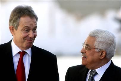 Mr. Blair. Not mutch to cheer about. Hamas is ruling in Gaza, despite money from London to get Abbas ellected.