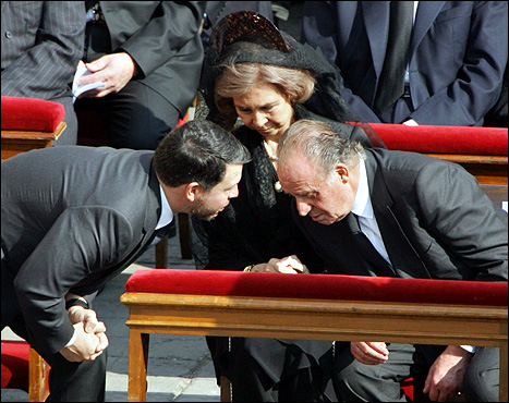 King Abdullah of Jordan and King Juan Carlos of Spain in deep talks about how to give Islam back East Jerusalem. I guess Islam also shold come back to Madrid?