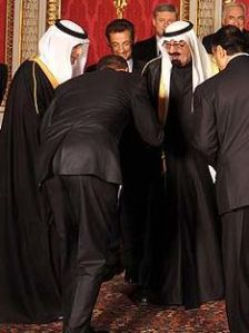 Why do the Prime Minister of Israel feel He needs to compromise with a US President that bows down to the King of Saudi Arabia?