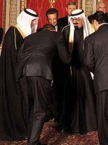 Obama have not surrendered to the truth in the Jewish Messiah. But rather He has bowed down to Islam, like He here bows donw to the King of Saudi Arabia.