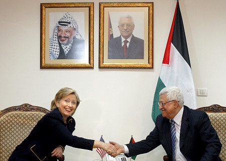 Hillary Clinton talk and act like Mahmoud Abbas will be the next president of Israel