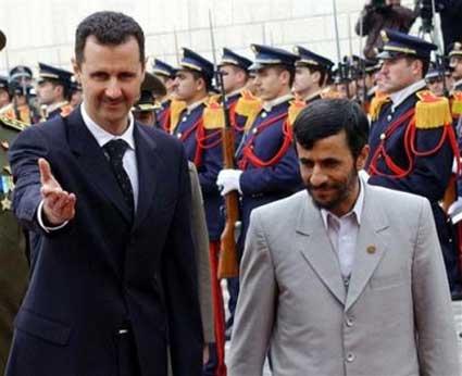 Syrian Bashir Aassad and Iranian president Ahmadinejad