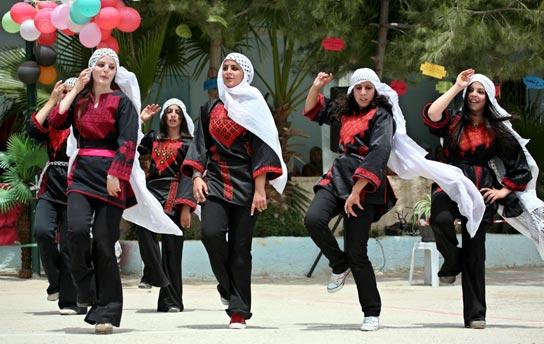 Dancing Arab girls on an event in Bethelhem