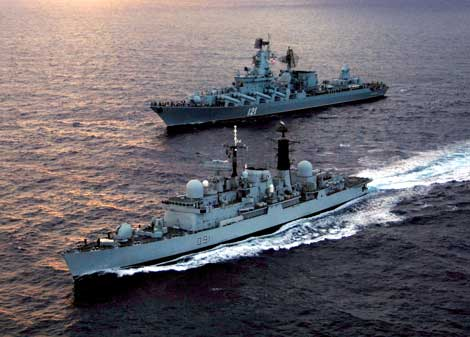 Russian Navy Cruiser Moscow ready to promote Russia in the Middle East arms race