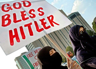 Both Hamas and Adolf Hitler rocks in the same boat. Thinking it pleases God to klill the Jews.
