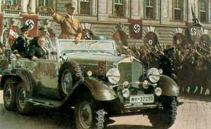 Hiter brings peace to Vienna in 1938