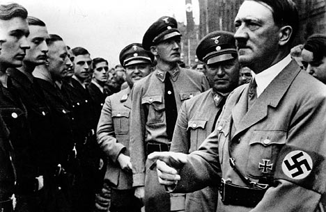 Adof Hitler in his better days. He committed suicide, and his body was burned by the Nazis.
