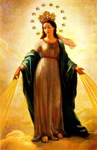 Catholic Mary presented as the Queen of Heaven