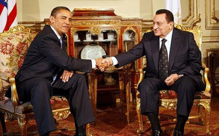 Obama and Husni Mubarak. The Egyptian leader has given us fresh reasons to doubt that we can ever trust Arabs