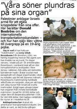 This weeks blod liebel against Jews published in the largest Swedish daily «Aftonbladet»