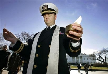 The navy priest who declared war on paganizm in Lodi California.