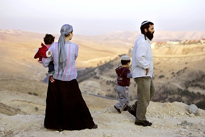 Jewish settlers on the mountains in Zion. The Prophetic Word being fulfiled in our generationb.