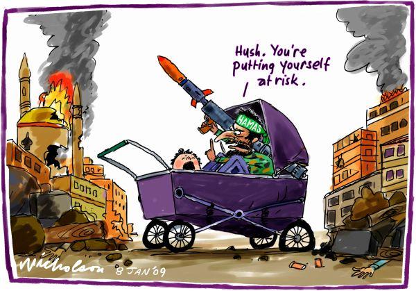 2009-01-08 Hamas firing rockets in Gaza 600