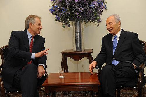 Shimon Peres is no longer willing to keep quiet about the Labor party once lead by Tony Blair