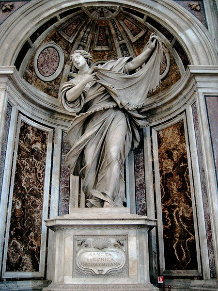 The shrine to Saint Veronica in Basilica di San Pietro, Vatican City
